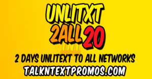 UA20 Talk 'N Text Promo 2 Days Unlitext to All Networks