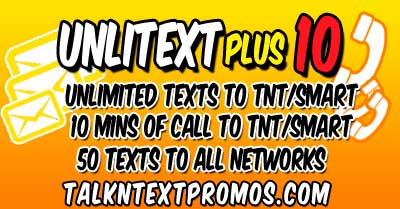 TP10 TNT Talk 'N Text Promo