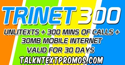 TRINET300 Talk 'N Text, Smart, Sun Cellular